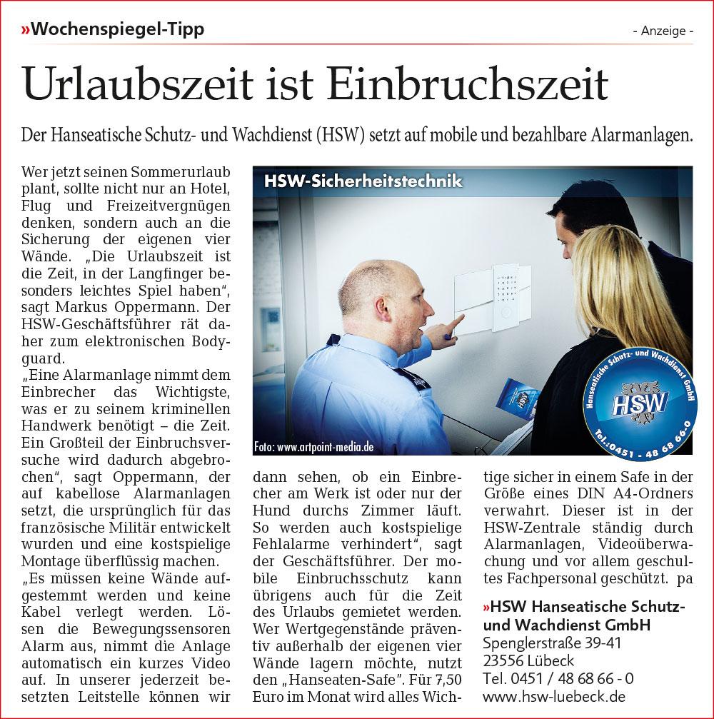 PR in Lübeck